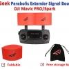 RcGeek ตัวขยายสัญญาณรีโมท Antenna Signal Range Extender/Booster สำหรับ DJI Mavic Pro/Spark - สีแดง