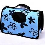 กระเป๋าลายดอกไม้ สีฟ้า