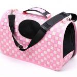 กระเป๋าลายตาราง สีชมพู