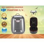 กระเป๋า Hard Shell Backpack สำหรับ Phantom 3 และ Phantom 4 สีเทา ซิบแดง