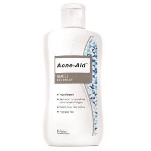 Acne Aid Gentle Cleanser [สีฟ้า] แอนเน่ เอด เจนเทิ่ล คลีนเซอร์ ปริมาณสุทธิ 100 ml.