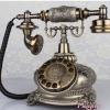 โทรศัพท์สบ้านสไตล์วินเทจทรงระฆังลายกุหลาบฟังก์ชั่นหมุน