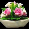 เรือดอกไม้ดินไทย (ที่ทับกระดาษ)