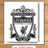 สติ๊กเกอร์ตัด Logo Liverpool สีเลือกได้ สูง50cm.