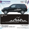 ลายรถ Honda CR-V ADVENTURE รถสีดำ สติ๊กเกอร์สีเทา