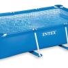 สระว่ายน้ำสำเร็จรูป Intex สี่เหลี่ยม 4.5 x 2.2 ลึก 0.84 เมตร ครบชุด