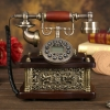 โทรศัพท์บ้านสไตล์ยุโรปโบราณทรงสี่เหลี่ยมผืนผ้า