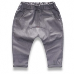 W098 : กางเกงขายาวผ้าเดนิมสีเทา
