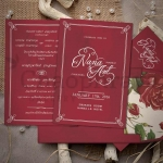 13.5 x 19.5 cm. Theme : Red