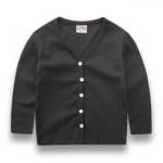 W141 : เสื้อคาดิแกนแขนยาวสีดำ