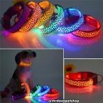 ถูกมากกก - ปลอกคอ LED ปลอกคอเรืองแสง ลายเสือดาว