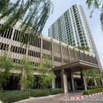 ขายคอนโด ขายคอนโดลุมพินีพาร์คพระราม9 ชั้น 23 ทิศเหนือแต่งครบ ห้องใหม่ มี 3 วิว