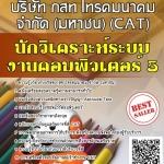 แนวข้อสอบ นักวิเคราะห์ระบบงานคอมพิวเตอร์ 5 บริษัท กสท โทรคมนาคม จำกัด (มหาชน) (CAT)