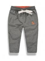 W046 : กางเกงขายาวสีเทาปักลายไดโนเสาร์ (1)