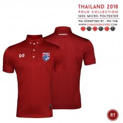เสื้อโปโลช้างศึก ทีมชาติไทย 2018 WA-3315NFTM2 สีแดงเข้ม
