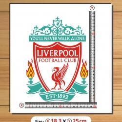 สติ๊กเกอร์ตัด Logo Liverpool สีตามแบบ สูง25cm.