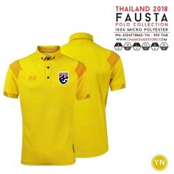 เสื้อโปโลช้างศึก ทีมชาติไทย 2018 WA-3320FTM2 สีเหลือง