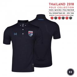 เสื้อโปโลช้างศึก ทีมชาติไทย 2018 WA-3315NFTM2 สีกรมท่า