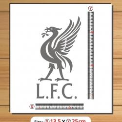 สติ๊กเกอร์ตัด LFC สีเลื่อกได้ สูง25cm