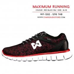 รองเท้าวอริกซ์ รันนิ่ง สีแดง-ดำ WF-1302