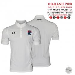 เสื้อโปโลช้างศึก ทีมชาติไทย 2018 WA-3315NFTM2 สีขาว