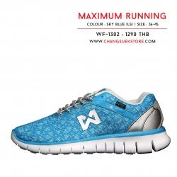 รองเท้าวอริกซ์ รันนิ่ง สีฟ้า-เงิน WF-1302