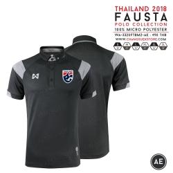เสื้อโปโลช้างศึก ทีมชาติไทย 2018 WA-3320FTM2 สีดำ