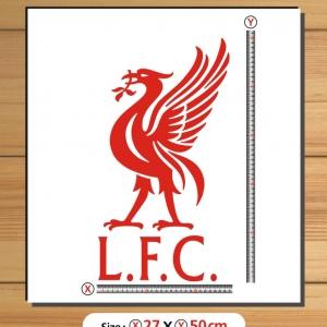 สติ๊กเกอร์ตัด LFC สีเลื่อกได้ สูง50cm