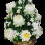 พานพุ่มทรงสูงดอกบัว,ดอกพุทธสีชมพู,สีขาว (พร้อมกรอบ) thumbnail 1