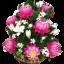 พานพุ่มทรงสูงดอกบัว,ดอกพุทธสีชมพู,สีขาว (พร้อมกรอบ) thumbnail 2