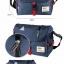 กระเป๋าสะพายข้างผู้ชาย เนื้อผ้า Oxford Spinning กันน้ำสีดำ รหัส A014 thumbnail 10