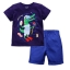 W040 : Set 2 ชิ้น เสื้อแขนสั้นสีน้ำเงินลายจระเข้ + กางเกงขาสั้นสีน้ำเงิน(1,2,3,5,6) thumbnail 1