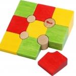 บล๊อคไม้หรรษา ของเล่นเพื่อการศึกษา ของเล่นพัฒนาสมอง จิิ๊กซอว์ไม้
