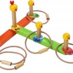 โยนห่วงมหาสนุก ของเล่นเพื่อฝึกการแก้ปัญหา ของเล่นฝึกสมอง ของเล่นไม้