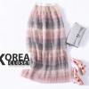กระโปรงแฟชั่น Tiered Rainbow Long Skirt