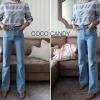 เสื้อแขนยาวแฟชั่น Cloudy Lace Line Blouse