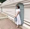 แม็กซี่เดรส Preedeematter Maxi Dress สีขาว