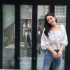 เสื้อแฟชั่น Sweet Vivi White Blouse