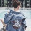 แจ็คเก็ตยีนส์ Sly Flyfirst Embroidery Vintage Denim Jacket