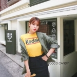 กระโปรง Korea Insets Shorts Skirt สีดำ