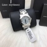 Marc Jacobs Amy Crystal Silver Bracelet Watch MBM3181