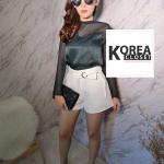 กางเกงขาสั้น งานเกาหลี สีขาว