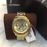 Michael Kors Gold-Tone Cameron Glitz Watch MK5691