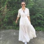 แม็กซี่เดรส Landmee Romance Love Maxi Dress สีขาว