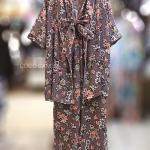 ชุดเซ็ท Floral Printed Kimono wt Pants