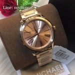 Michael Kors Hartman Rose Gold-Tone Stainless Steel Ladies Watch MK 3521