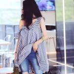 เดรส Lady Stripe Dress