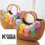 กระเป๋าแฟชั่นสานสุดน่ารัก ♡STYLERICH BY KOREA♡