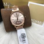 MICHAEL KORS Jaryn Rose Gold Dial Stainless Steel Ladies Watch MK3501