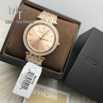 MICHAEL KORS Darci Rose Gold Dial Pave Bezel Ladies Watch MK3192